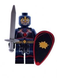Black Knight with Sword & Shield - Custom Designed Minifigure